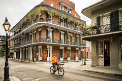 Casa histórica no bairro francês de Nova Orleães Imagens de Stock Royalty Free