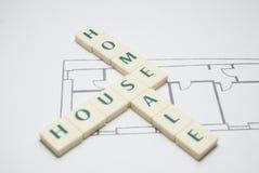 Casa Home e venda Fotografia de Stock