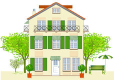Casa, hotel, bistro ilustración del vector
