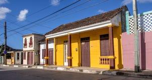 Casa i den Baracoa Kuban Arkivbilder