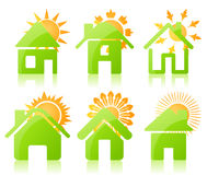 Casa icon3 Imagens de Stock