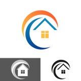 Casa, icona della casa, logo Fotografia Stock Libera da Diritti