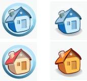 Casa - iconos Foto de archivo libre de regalías
