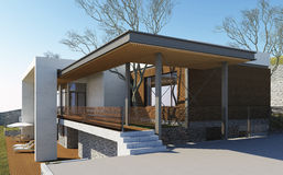 A casa ideal Imagem de Stock