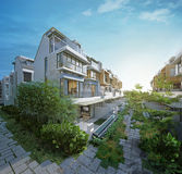 A casa ideal, imagens 3d Fotos de Stock