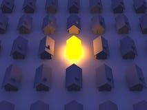 Casa iluminada del juguete Imagen de archivo libre de regalías