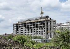 Casa inacabado da tecnologia tijolo-monolítica imagem de stock royalty free