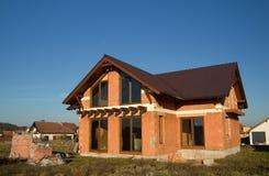 Casa inacabado para a venda Foto de Stock Royalty Free