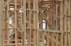 Casa incorniciata del legname Fotografie Stock