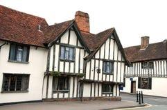Casa incorniciata del legname, Lavenham, Inghilterra Fotografia Stock Libera da Diritti