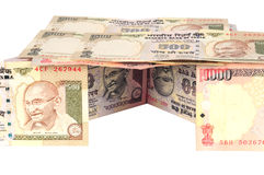 Casa india del dinero en circulación Fotografía de archivo libre de regalías
