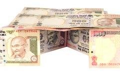 Casa indiana di valuta Fotografia Stock Libera da Diritti