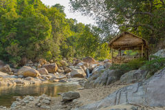 Casa indigena in giungla del Vietnam Immagini Stock