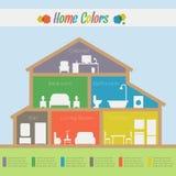 Casa Infographic Foto de archivo libre de regalías