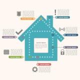 Casa Infographics Imagens de Stock Royalty Free