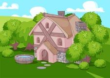 Casa inglesa vieja del estilo ilustración del vector