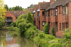 Casa inglese a Stratford-su-Avon Immagine Stock Libera da Diritti