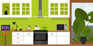 Casa interna della mobilia della cucina Immagine Stock Libera da Diritti