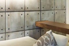 Casa interna, dettaglio, muro di cemento immagine stock