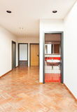 Casa interna, vista del corridoio Immagine Stock Libera da Diritti