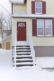 Casa, inverno Fotografie Stock Libere da Diritti