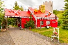 Casa Islanda del Babbo Natale fotografia stock libera da diritti