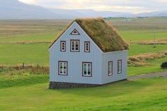 Casa islandese tradizionale Fotografia Stock