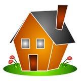 A casa isolada floresce Clipart Imagens de Stock