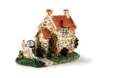 Casa isolada sobre o branco Imagens de Stock Royalty Free