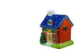 Casa isolata di Natale dell'argilla Fotografia Stock Libera da Diritti