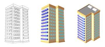 Casa isométrica 3D se dirigen plan Ilustración aislada del vector Fotos de archivo