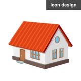 Casa isométrica do ícone Imagem de Stock Royalty Free