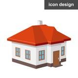 Casa isometrica dell'icona Fotografie Stock