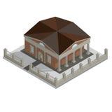 Casa isometrica di vettore Fotografia Stock Libera da Diritti