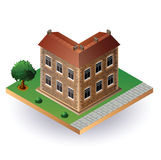 Casa isométrica de la vendimia Foto de archivo