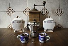 Casa italiana del caffè fatta Fotografie Stock Libere da Diritti