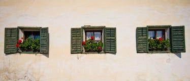 Casa italiana no Tirol fotografia de stock