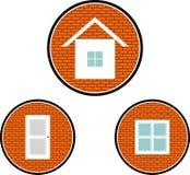 Casa, janela e porta Fotografia de Stock