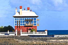 Casa Juanita or The Blue House in Arrieta Stock Images