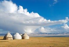 Casa kirguizia tradicional Imagen de archivo libre de regalías