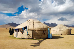 Casa kirguizia tradicional Fotografía de archivo libre de regalías