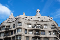 Casa La Pedrera - Barcelona Royalty Free Stock Photo