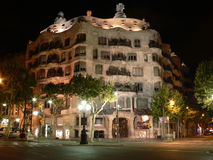 Casa La Pedrera in Barcelona Stock Photos