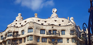 Casa La Pedrera In Barcelona Royalty Free Stock Photos