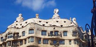Casa La Pedrera In Barcelona Royalty Free Stock Photos