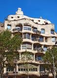 Casa la Pedrera In Barcelona Stock Images