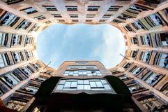 Casa La Pedrera in Barcelona stock photo