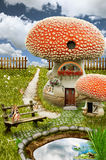 Casa leggiadramente (fungo) Fotografie Stock