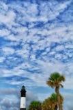 Casa ligera de la isla de Tybee Fotografía de archivo libre de regalías