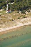 Casa ligera de la playa de la punta Foto de archivo libre de regalías